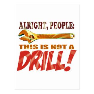 Drill apparel postcard