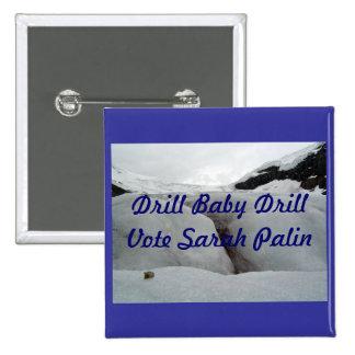 Drill Baby Drill 2 Inch Square Button