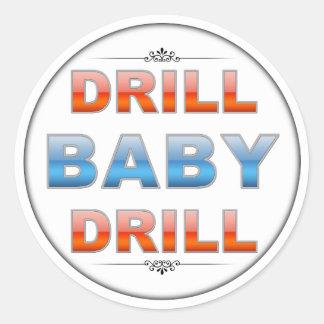 Drill Baby Drill Classic Round Sticker