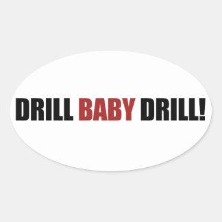 Drill Baby Drill Oval Sticker