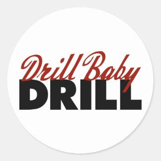 Drill Baby Drill Round Sticker