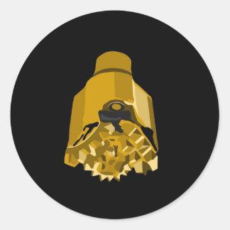drill bit black classic round sticker