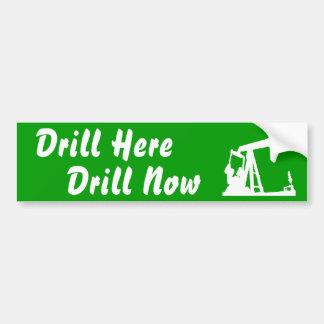 Drill Here Drill Now Bumper Sticke... - Green Car Bumper Sticker