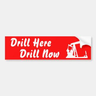 Drill Here Drill Now Bumper Sticke... - Red Bumper Sticker