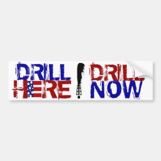 Drill Here Drill Now Car Bumper Sticker
