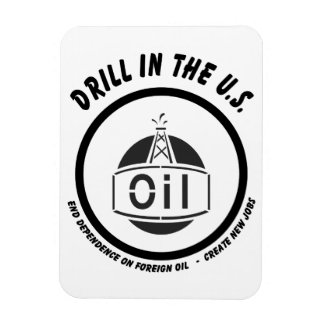 Drill in the US Rectangular Photo Magnet