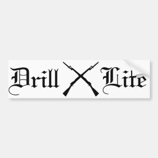 Drill Life Crossed Bladed 1903s Car Bumper Sticker