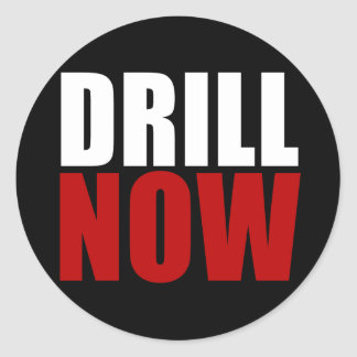 Drill NOW Classic Round Sticker