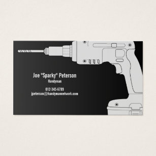 Power tools business cards templates zazzle drill power tool handyman business card colourmoves