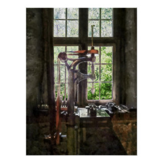 Drill Press by Window Poster