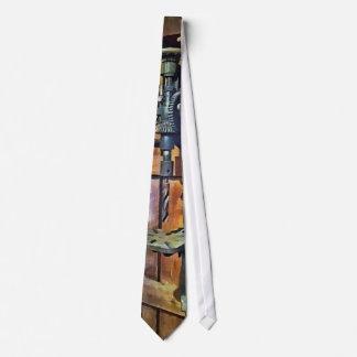 Drill Press in Shop Tie