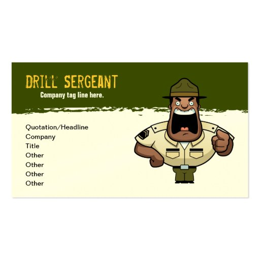 Drill Sergeant Business Card Zazzle