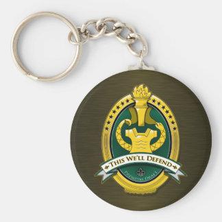Drill Sergeant Premium Draft Beer Keychain