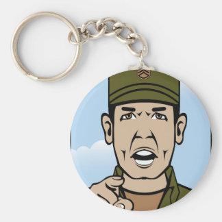 Drill Stg Duty vector Basic Round Button Keychain
