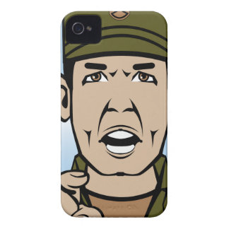Drill Stg Duty vector iPhone 4 Cover