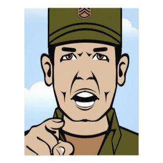 Drill Stg Duty vector Letterhead