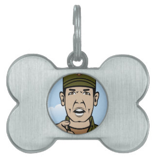 Drill Stg Duty vector Pet Tag