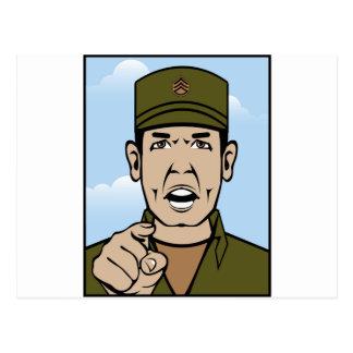 Drill Stg Duty vector Postcard