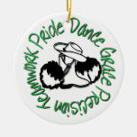 Drill Team - Dance Grace Precision Teamwork Pride Christmas Ornaments