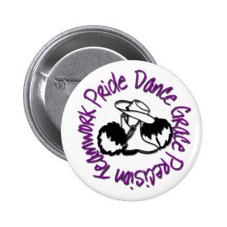 Drill Team - Dance Grace Precision Teamwork Pride Pinback Button
