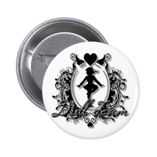Drill Team Girl in a Heart Frame Button