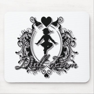 Drill Team Girl in a Heart Frame Mouse Pad