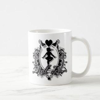 Drill Team Girl in a Heart Frame Classic White Coffee Mug