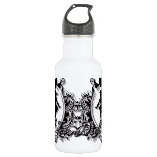 Drill Team Girl in a Heart Frame Stainless Steel Water Bottle