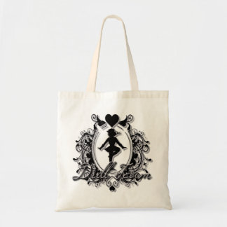 Drill Team Girl in a Heart Frame Tote Bag