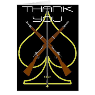 Drill Team Thank You Card