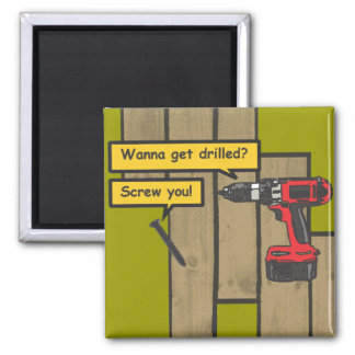 Drilled 2 Inch Square Magnet