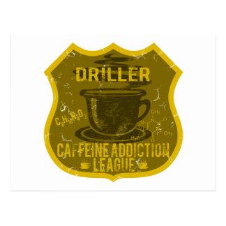 Driller Caffeine Addiction League Postcard