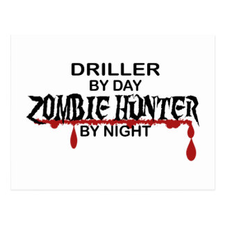 Driller Zombie Hunter Postcard