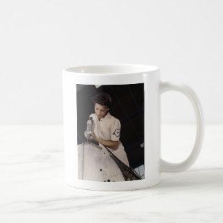Drilling Deep, 1940s Classic White Coffee Mug
