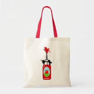 Drilling For Ketchup Tote Bag
