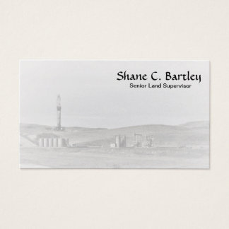 Drilling Rig and Oil Pumping Units Business Card