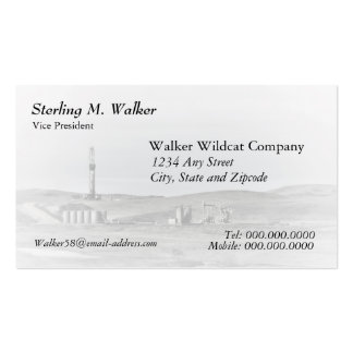 Drilling Rig and Oil Pumping Units (one sided) Business Card