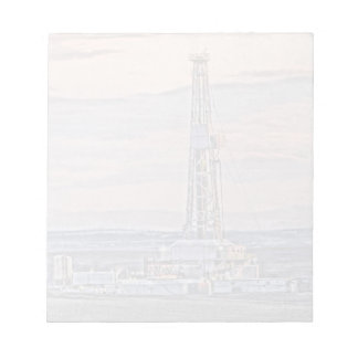 Drilling Rig Artistic Image Notepad