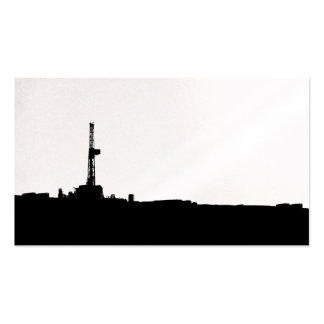 Drilling Rig Silhouette Business Cards