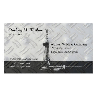 Drilling Rig Silhouette Business Card