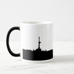 Drilling Rig Silhouette Magic Mug