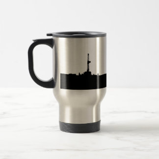 Drilling Rig Silhouette 15 Oz Stainless Steel Travel Mug