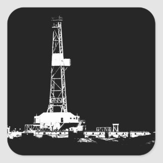 Drilling Rig Square Stickers