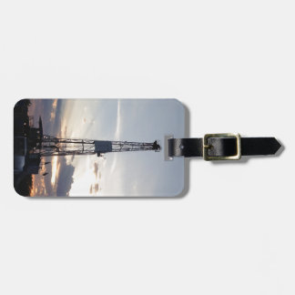Drilling Rig Sunset Luggage Tag