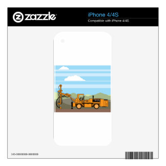 Drilling Rig Tractor Vehicle Machinery Decals For iPhone 4