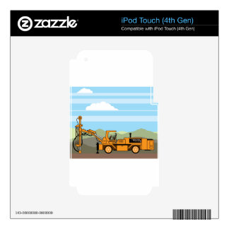 Drilling Rig Tractor Vehicle Machinery iPod Touch 4G Skins