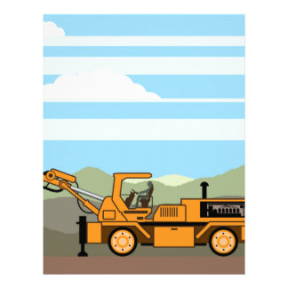 Drilling Rig Tractor Vehicle Machinery Letterhead