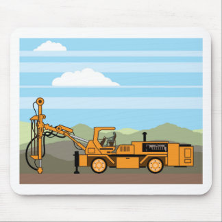 Drilling Rig Tractor Vehicle Machinery Mouse Pad