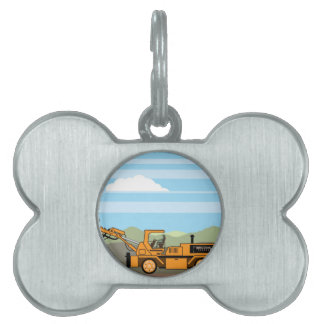 Drilling Rig Tractor Vehicle Machinery Pet Name Tag