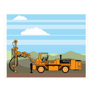 Drilling Rig Tractor Vehicle Machinery Postcard